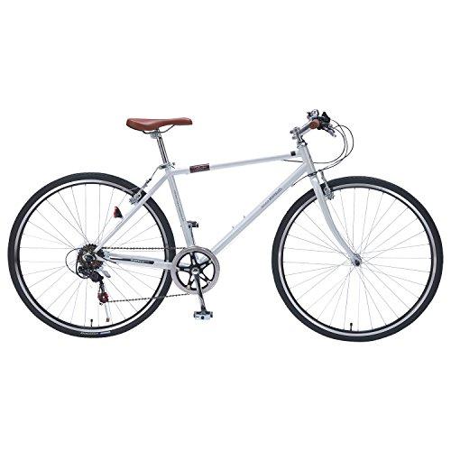 【送料無料】My Pallas(マイパラス) M-604 クロスバイク700C 6段ギア ホワイト M604 ホワイト【代引不可】