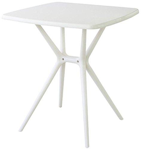 【送料無料】東谷 AZUMAYA プラスチックテーブル ホワイト【代引不可】