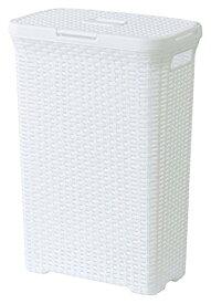 東谷 AZUMAYA アミー ランドリーボックス W44.5×D26.5×H62cm ホワイト【代引不可】
