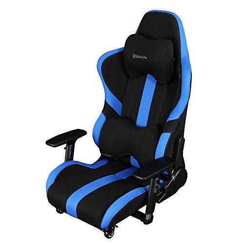 【送料無料】Bauhutte (バウヒュッテ) ゲーミングチェア プロシリーズ ゲーミング座椅子 リクライニング 4D稼働アームレスト採用 LOC-950RR-BU【代引不可】