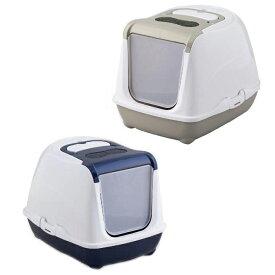 猫用品 キャットトイレ フリップキャット ラージ 容量14L ブルーベリー【代引不可】