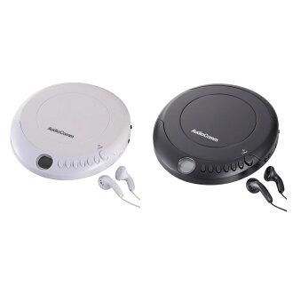 AudioComm手提式CD播放機白、CDP-280N-W