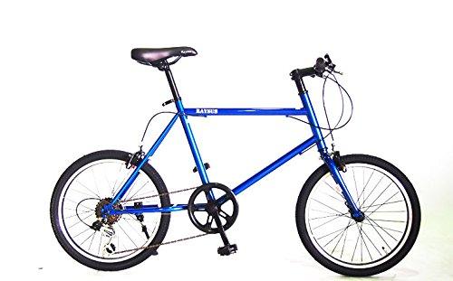 【送料無料】RAYSUSレイサス 自転車 20インチ RY-206KTN-H-BL ミニベロ(小径車) シマノ6段ギア 95%完成車 (ブルー)【代引不可】