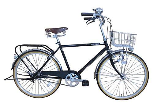 【送料無料】Lupinusルピナス 自転車 24インチ LP-24NHA-BK シティサイクル (ブラック)【代引不可】