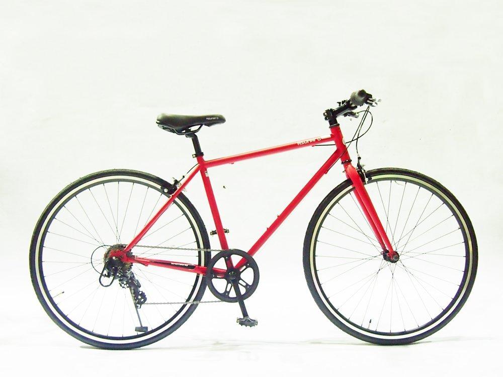 【送料無料】ASUNAROアスナロ 自転車 AN-707CN-H Clove(クローヴ) 700×28cクロスバイク (マットレッド)【代引不可】