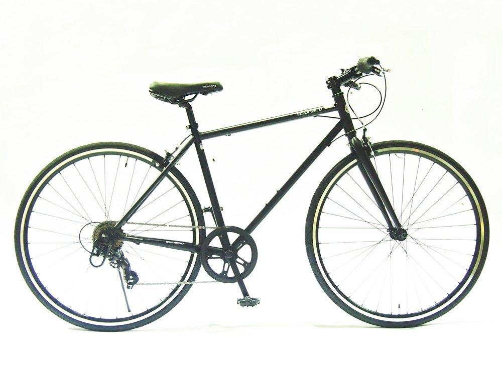 【送料無料】ASUNAROアスナロ 自転車 AN-707CN Clove(クローヴ) 700×28cクロスバイク 100%完成車 (マットブラック)【代引不可】
