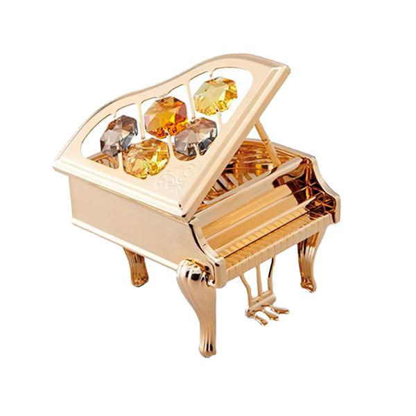 茶谷産業 CRYSTOCRAFT ピアノ ゴールド 850-306G【代引不可】