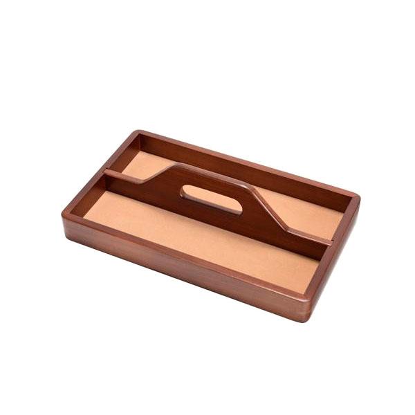 茶谷産業 Wooden Case トレー(ハンドル付き) 020-102【代引不可】