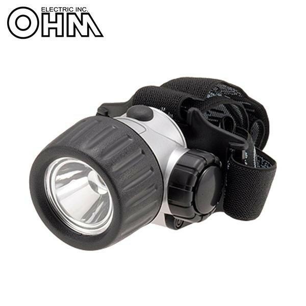 オーム電機 OHM 1.0W LEDヘッドライト CS-10P【代引不可】