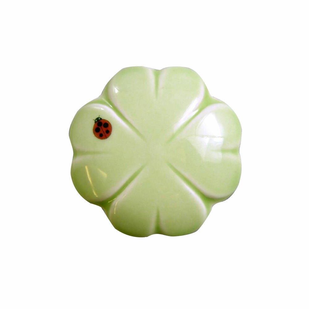 有田焼 排水口カバー てんとう虫 (グリーン) ID-52-7【代引不可】