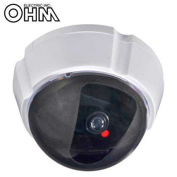 オーム電機 OHM ダミーカメラ UFO 防犯ステッカー付き 人感センサー点滅 OSE-P-DD2【代引不可】