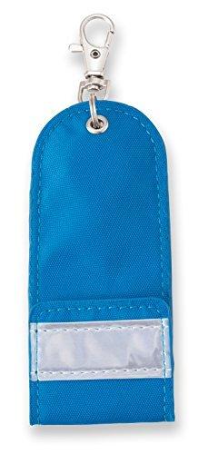 【メール便発送】アスカ リール付き目隠しキーケース ブルー 反射板つき KCV01B【代引不可】