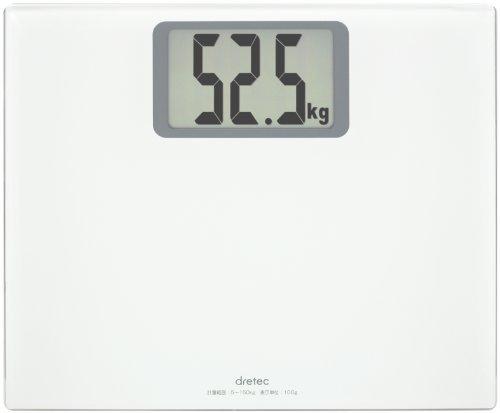 (まとめ買い)ドリテック 大画面体重計 ボディスケール グランデ ホワイト BS-163WT 〔3個セット〕