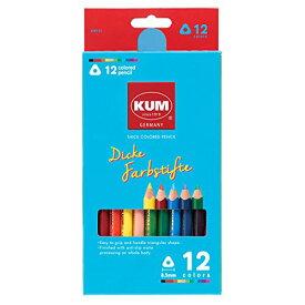 (まとめ買い)レイメイ藤井 KUM 太軸色鉛筆12色 KM163 〔×3〕