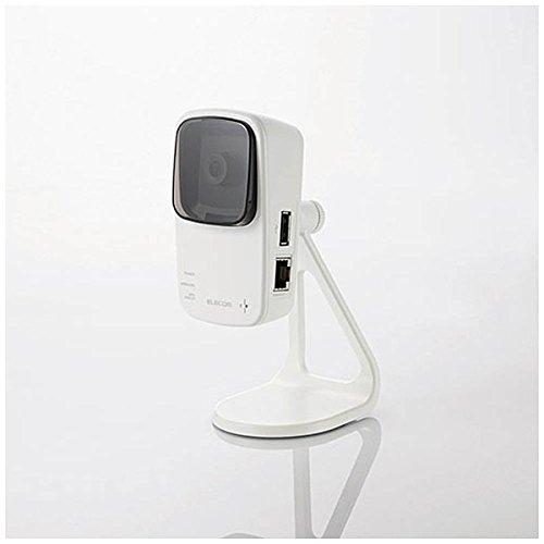 【送料無料】エレコム 無線ネットワークカメラ 300Mbps 11n 中継器機能+microSDスロット+マイク機能搭載 NCC-EWF100RMWH2