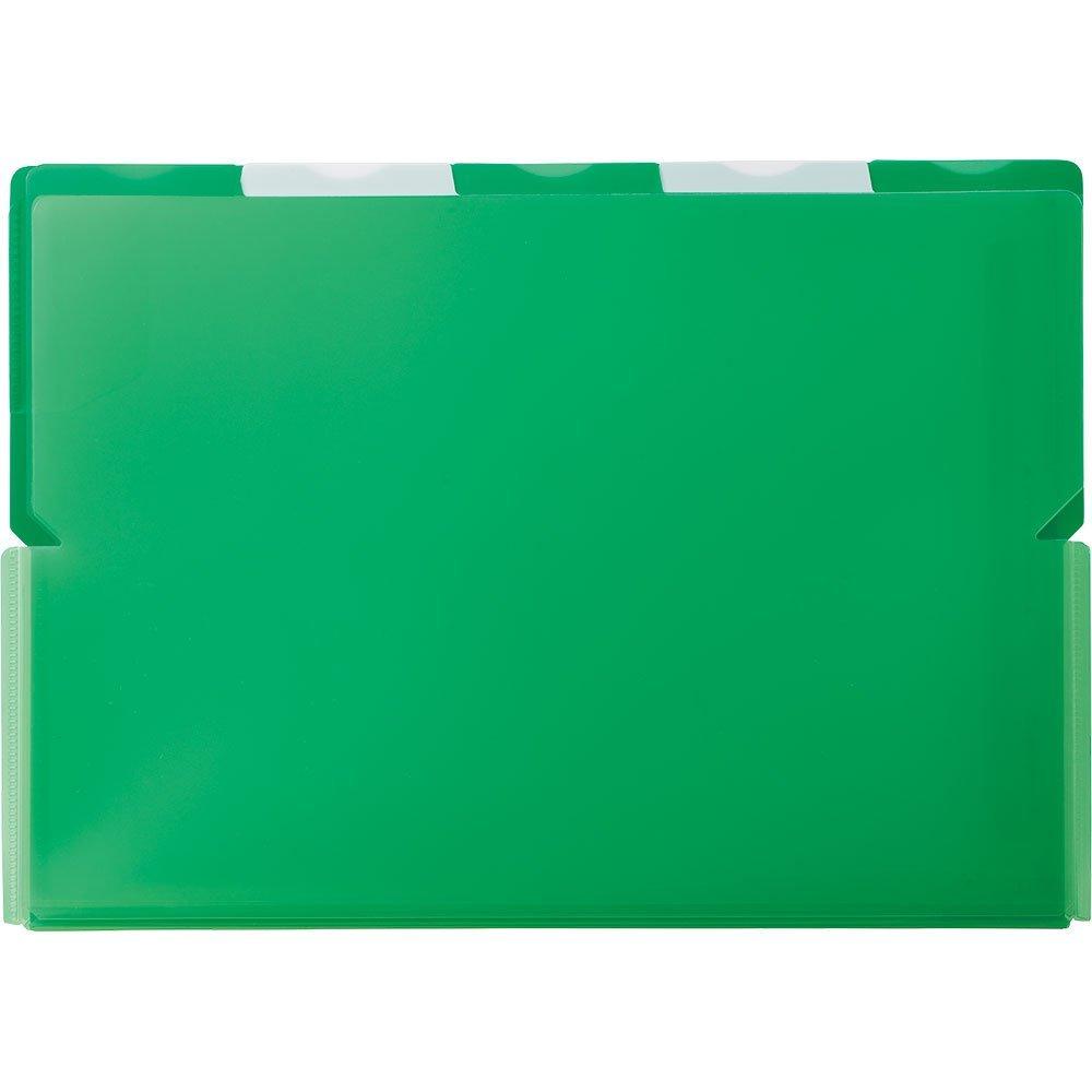 (まとめ買い)キングジム クリアーホルダー スーパーハードホルダー 5山ワイドオープン透明 A4 (ヨコ) 緑 786Tミト 〔5枚セット〕