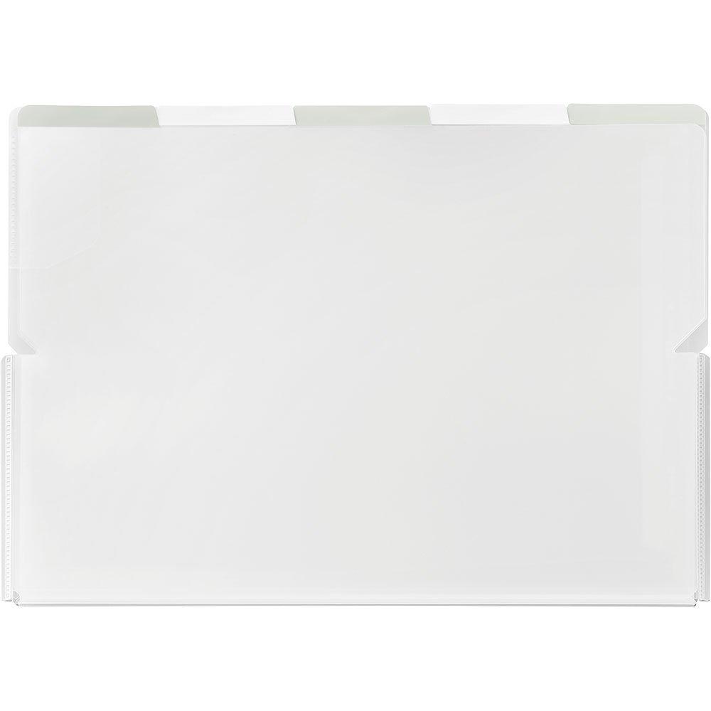 (まとめ買い)キングジム クリアーホルダー スーパーハードホルダー 5山ワイドオープン透明 A4 (ヨコ) 白 786Tシロ 〔5冊セット〕