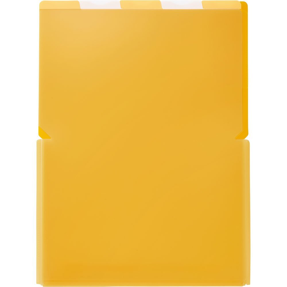 (まとめ買い)キングジム クリアーホルダー スーパーハードホルダー 5山ワイドオープン透明 A4 (タテ) 黄 776Tキイ 〔5枚セット〕