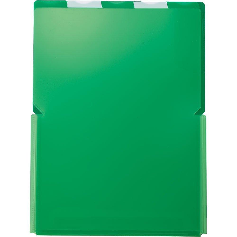 (まとめ買い)キングジム クリアーホルダー スーパーハードホルダー 5山ワイドオープン透明 A4 (タテ) 緑 776Tミト 〔5枚セット〕