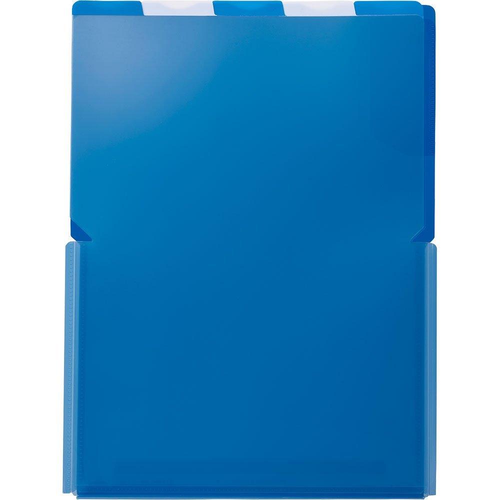 (まとめ買い)キングジム クリアーホルダー スーパーハードホルダー 5山ワイドオープン透明 A4 (タテ) 青 776Tアオ 〔5枚セット〕