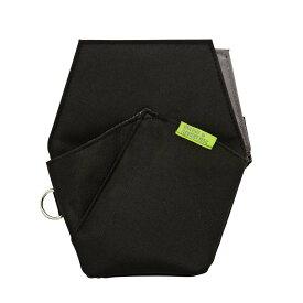 (まとめ買い)クツワ 文具エプロンバッグ ポケット ブラック BE008BK 〔3個セット〕