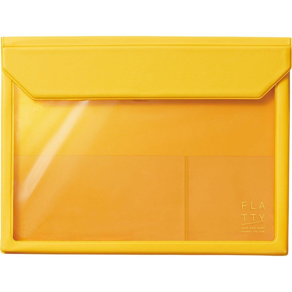【メール便発送】キングジム かさばらないバッグインバッグ FLATTY A5 黄 5364キイ 【代引不可】