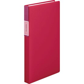 【メール便発送】キングジム フェイバリッツ 名刺ホルダー コンパクトタイプ 120P 赤 FV22Tアカ 【代引不可】