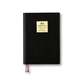 (まとめ買い)ダイゴー 手帳 2021年 アポイント 1ヶ月横罫 A6 ブラック E1302 〔3冊セット〕