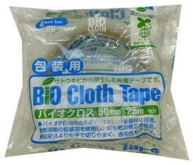 リンレイ 包装用PEテープ #672 バイオクロス (半透明)サイズ50X25m 〔まとめ買い30巻セット〕 【代引不可】