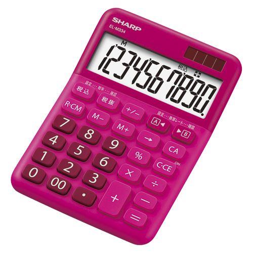【メール便発送】シャープ 電卓 レッド系 EL-M334RX 00015490【代引不可】
