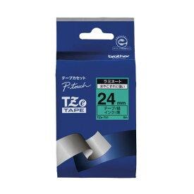 ブラザー ピータッチテープ24mm緑/黒 TZE-751 00009880 【北海道・沖縄・離島配送不可】