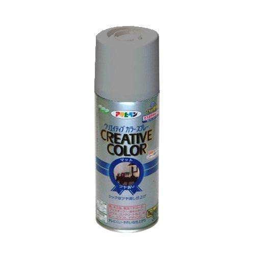 (まとめ買い)アサヒペン クリエイティブカラースプレー 300ML 56パールグレー 〔5缶セット〕