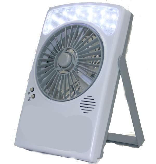 【送料無料】乾電池&USB対応 LEDライト付き 扇風機 LB-806 卓上型【あす楽対応】
