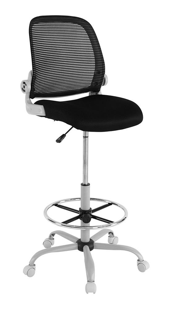 【送料無料】Bauhutte (バウヒュッテ) スタンディングデスク向け事務椅子 スタンディングチェア ブラック CP-24-BK【代引不可】