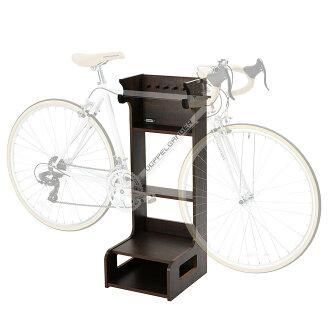 DOPPELGANGER(dopperugyanga)自行车休息架子型自行车家具显示器台灯室内保管棕色DDS465-BR