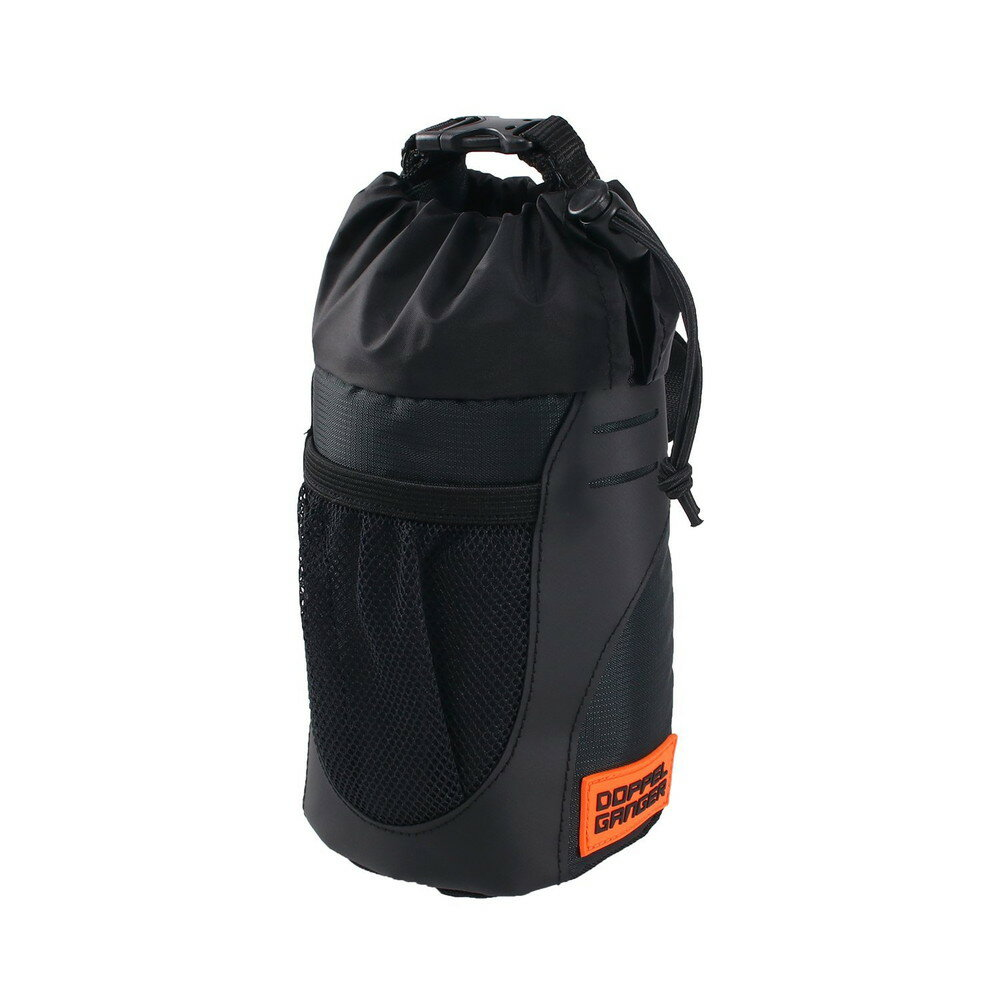 DOPPELGANGER(ドッペルギャンガー) メガマウスステムバッグ 容量:0.9L 取り外し式インナーバッグ付き ハンドル周りに簡単取付 ブラック DBF459-BK【代引不可】