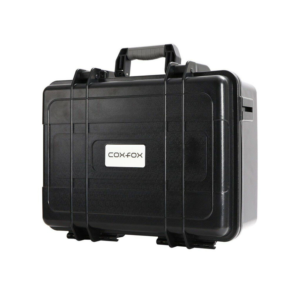 coxfox(コックスフォックス) ショックレストランク カメラバッグ 容量20L 耐衝撃 防水ハードケース ショルダーベルト付き 緩衝ブロックウレタンセット付属 GTC-23 カメラ機材収納 ブラック【代引不可】
