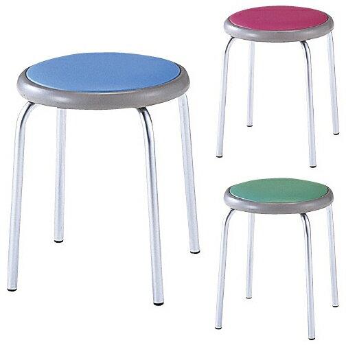 丸椅子 カラー:ブルー MY-N1143【代引不可】