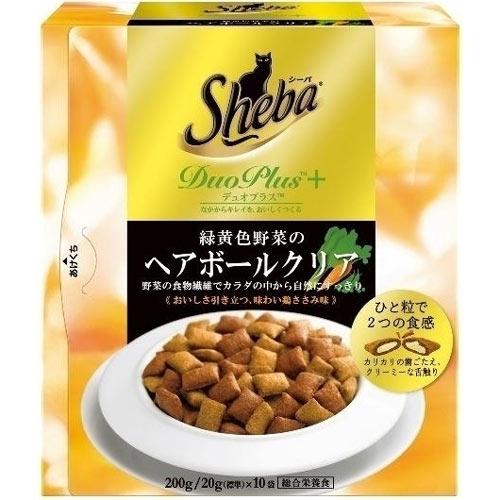 シーバデュオプラス 緑黄色野菜のヘアボールクリア 200g【代引不可】