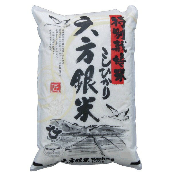 〔平成28年産〕コウノトリ舞い降りるコシヒカリ 六方銀米 10Kg(5kg白米×2)【代引不可】