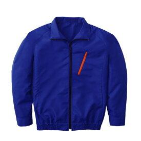 空調服 ポリエステル製長袖ブルゾン P-500BN 〔カラー:ブルー  サイズ XL〕 電池ボックスセット【代引不可】
