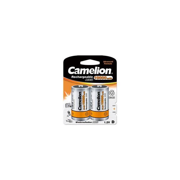 Camelion 10000mAh単1形ニッケル水素充電池 2本パック NH-D10000BP【代引不可】