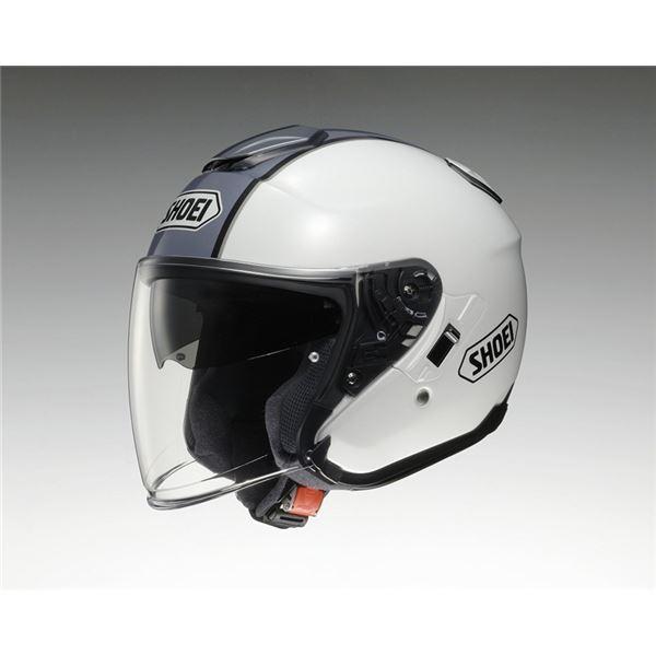 【送料無料】ジェットヘルメット シールド付き J-CRUISE CORSO TC-6 ホワイト/シルバー XL 〔バイク用品〕【代引不可】