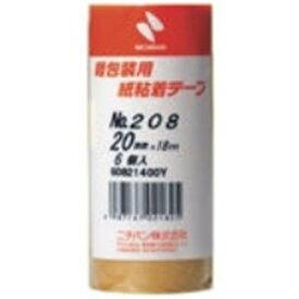 (業務用5セット)ニチバン 紙粘着テープ 208-20 20mm×18m 6巻 ×5セット【代引不可】