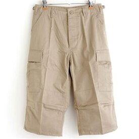 アメリカ軍 BDU クロップドカーゴパンツ /迷彩服パンツ 〔 XSサイズ 〕 カーキ 〔 レプリカ 〕【代引不可】