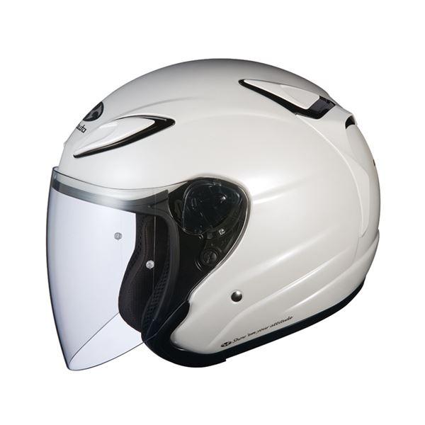 【送料無料】AVAND2 ジェットヘルメット シールド付き パールホワイト M 〔バイク用品〕【代引不可】