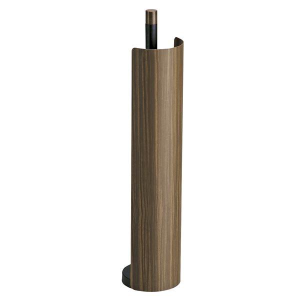 木転写トイレットペーパーホルダー 〔5ロール収納〕 幅13cm スチール製 スリム 『TEER』 ブラウン 〔完成品〕【代引不可】