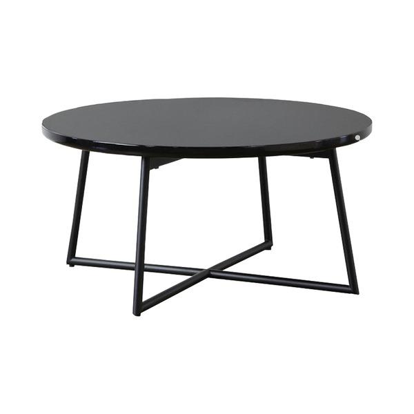 【送料無料】鏡面テーブル IWT-632 BK(ブラック)本体:幅70×奥行70×高さ35cm【代引不可】