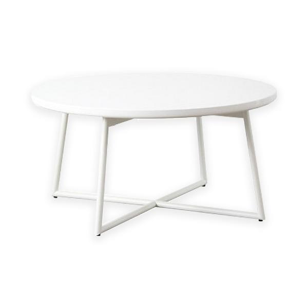 【送料無料】鏡面テーブル IWT-632 WH(ホワイト)本体:幅70×奥行70×高さ35cm【代引不可】