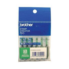 (まとめ) ブラザー BROTHER 使いきりタイプ補充インク 緑 PRINK6G 1パック(6本) 〔×10セット〕【代引不可】